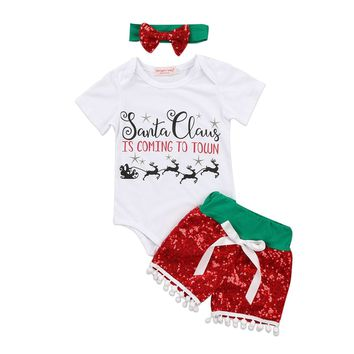 Santa is Coming to Town Onesuit Outfit
