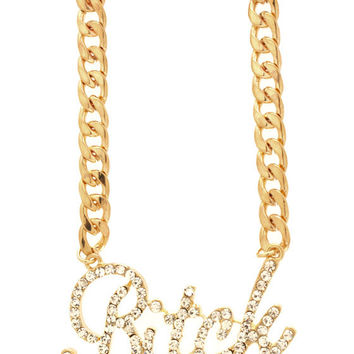 embellished-bitch-chain-necklace GOLD SILVER - GoJane.com