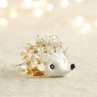 Glass Tan Hedgehog Ornament