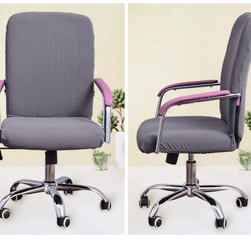 Office computer chair cover Armrest seat cover Siamese elasticity Side Zipper Design Chair Cover