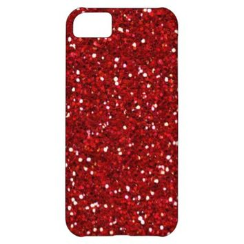 Red Passion Glitter iPhone 5C Barely There Case