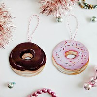 Everyday is a Holiday — Donut Ornaments (choice of pink or chocolate)