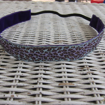 Cheetah multi colored no slip headband, girls headband, womens headband, running headband, hair accessory