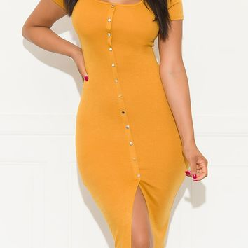 Give Me All  Dress Mustard