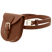Portable Pouch Belt in Brown | Mod Retro Vintage Belts | ModCloth.com