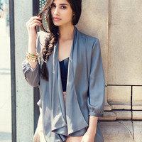 Waterfall Collar Jacket | FOREVER21 - 2000038555