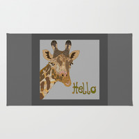 Hello Rug by ArtLovePassion