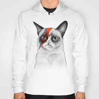 Grumpy Cat as Grumpy Bowie, David NOie Hoody by Olechka