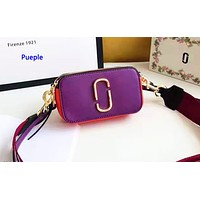 Marc Jacobs casual small shoulder bag hot seller in shopping patchwork color Purple