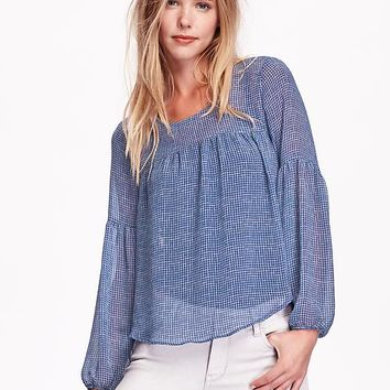 Old Navy Womens Drop Shoulder Chiffon Blouse