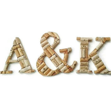 3 wine cork letters | monogram letters | wine cork crafts | wine cork letter