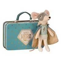 Maileg Super Hero Toy Mouse in a Suitcase | Nordstrom