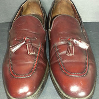 HANOVER Vintage Brown Chili Loafers Tassel Men's Size 12 D