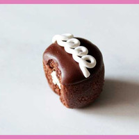 Swirl Chocolate Cupcake Charm or Magnet