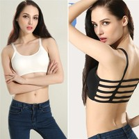 Sports Bra Wear Digging Stripe Women Camis Head Harvest Bra Top Beach Tank Vest Sexy
