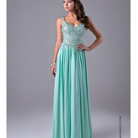 Nina Canacci 7108 Mint Green Embellished Gown 2015 Prom Dresses