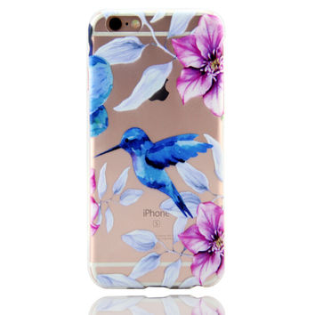 Hummingbird Printed iPhone 7 7Plus & iPhone se 5s 6 6 Plus Case Cover +Gift Box-86
