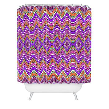 Ingrid Padilla Purple Whim Shower Curtain