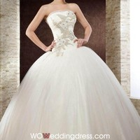 Cheap Utterly Perfect Strapless Sweetheart Dropped Waist Ball Gown - the Best Wedding Dresses Online Wholesaler and Retailer