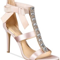Jewel Badgley Mischka Henderson Strappy Bow Evening Sandals Shoes - Sandals & Flip Flops - Macy's