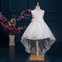 2017 Newest White First Communion Dresses For Girls Tulle Lace Infant Toddler Pageant Flower Girl Dresses for Weddings and Party
