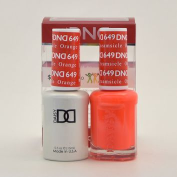 DND Daisy Soak Off Gel Polish + Matching Nail Polish Duo 649 Orange Creamsicle