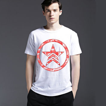 Summer Casual Men's Fashion Fashion Short Sleeve Cotton Stylish Creative Tee T-shirts = 6450110979