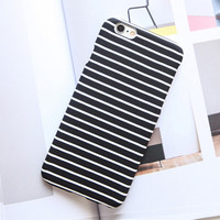High Quality Fashion Black and White Zebra Stripes Frosted Case For iphone 7 Case For iphone7 6 6S / Plus 5 5S Phone Cases Cover -Girllove100