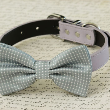 Gray Bow tie collar -Mauve and Gray - Color of the year, gray wedding ideas