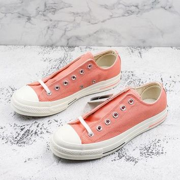 Converse Chuck Taylor All Star 1970s Low Top Heritage Pink Canvas Sneakers - Best Deal Online