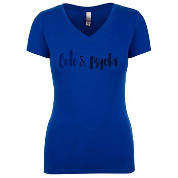 Cute And Psycho Women's V Neck