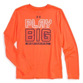 Boy's Under Armour 'Play Big or Don't Play at All' HeatGear Graphic T-Shirt,