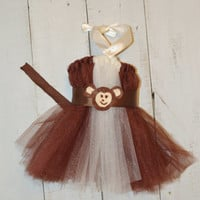 Monkey Halloween Costume/ Tutu/ Tutu Dress/ Monkey Tutu/ Monkey Dress/ Monkey Costume/ Monkey tutu Dress/ Infants/ Children/ Girls