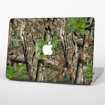 The Vibran Real Woods Camouflage Skin Set for the Apple MacBook Laptop (Most Versions Available - Choose Coverage)