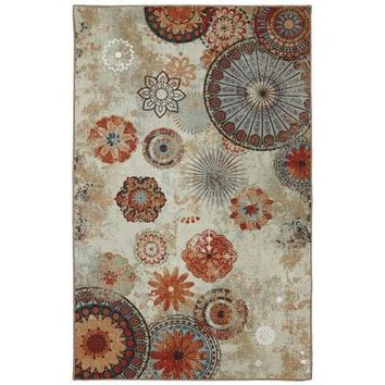 Mohawk Alexa Medallion 5 ft. x 8 ft. Outdoor Printed Patio Area Rug-379858 at The Home Depot