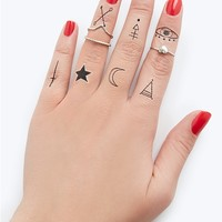 Diamond Knuckle-Toos Finger Tattoos | rue21