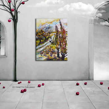 Home For The Holidays Large Impressionist Original Oil Painting