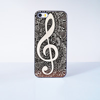 Musical Note Mandala Plastic Case Cover for Apple iPhone 5s 5 6 Plus 6 4 4s  5c