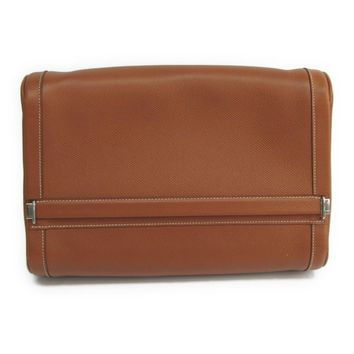Hermes Equi Women s Courchevel Leather Clutch Bag Gold BF313679 9448894512