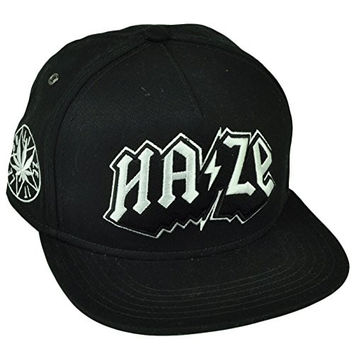 Cayler and Sons Haze 420 Faded Snapback Flat Bill Black White Hat Cap Marijuana