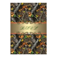 Formal Camo Wedding RSVP Cards