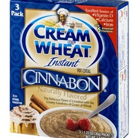 Cream of Wheat Instant Hot Cereal Cinnabon 3 Packs Per Box (3 Boxes)