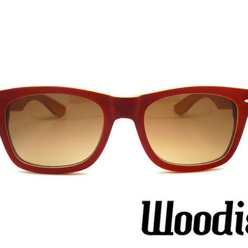 Cherry Bamboo Wood Sunglasses