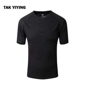 TAK YIYING Summer Coolmax Camouflage Outdoor Camping & Hiking T Shirt Men Breathable Quick Dry US  T-Shirt Camo O Neck