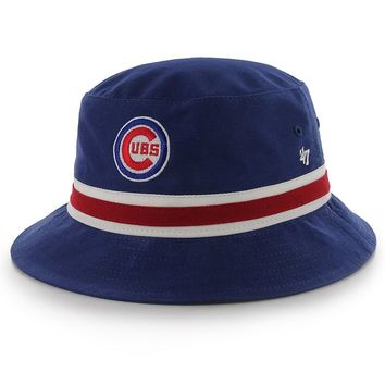 '47 Brand Chicago Cubs Striped Bucket Hat - Adult, Size: One Size (Blue)