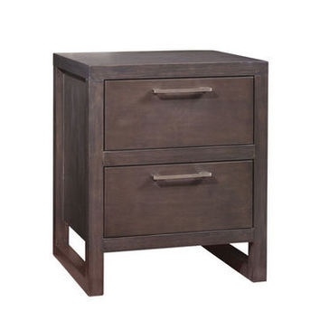 Ligna Tribeca Collection 2 Drawer Nightstand in Snow White
