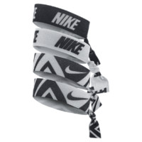 Nike Printed Hairbands (4 Pack) (Black)