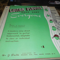 Vintage Guitar Lessons Guitar Playing Made Easy for Everyone by Joseph M. Estella and George Roberts 1955 Book 2