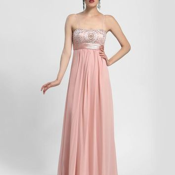 Sue Wong - N4170 Spaghetti Straps Embellished A-line Gown