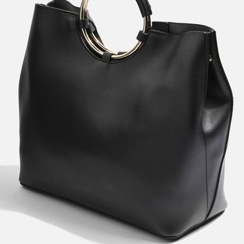Metal Handle Tote Bag - Bags & Accessories